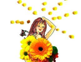 personnage fleur